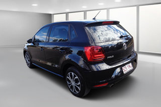 2015 Volkswagen Polo 6R MY16 66 TSI Trendline Black 5 Speed Manual Hatchback