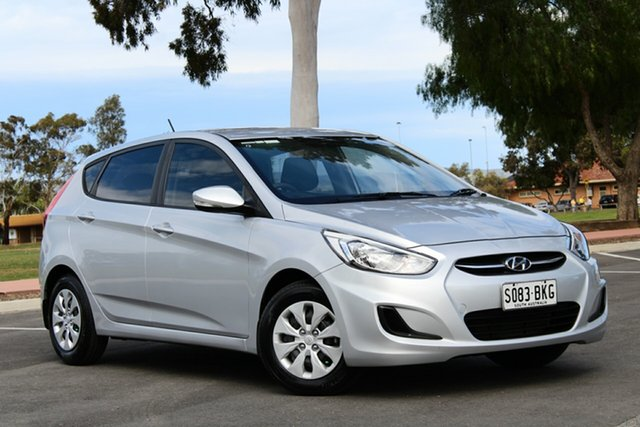 Used Hyundai Accent RB2 MY15 Active, 2015 Hyundai Accent RB2 MY15 Active Sleek Silver 6 Speed Manual Hatchback
