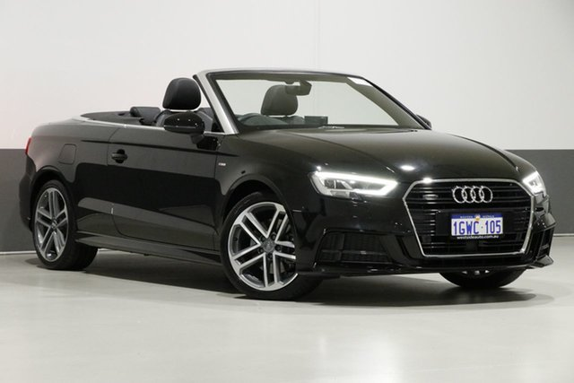 Used Audi A3 8V MY17 2.0 TFSI S Tronic Quattro Sprt, 2017 Audi A3 8V MY17 2.0 TFSI S Tronic Quattro Sprt Black 7 Speed Auto S-Tronic Cabriolet