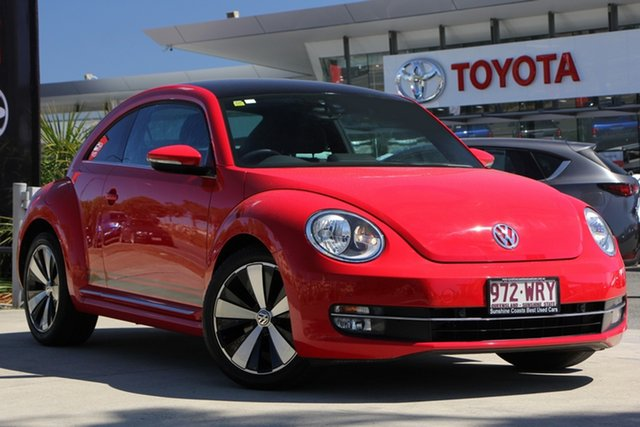 Used Volkswagen Beetle 1L MY13 Coupe DSG, 2013 Volkswagen Beetle 1L MY13 Coupe DSG Red 7 Speed Sports Automatic Dual Clutch Liftback