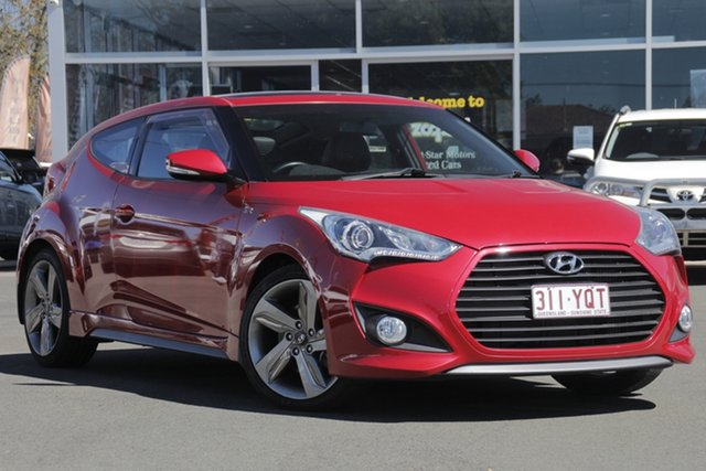 Used Hyundai Veloster FS3 SR Coupe Turbo, 2013 Hyundai Veloster FS3 SR Coupe Turbo Red 6 Speed Manual Hatchback