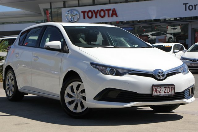 Used Toyota Corolla ZRE182R Ascent S-CVT, 2017 Toyota Corolla ZRE182R Ascent S-CVT Glacier White 7 Speed Constant Variable Hatchback