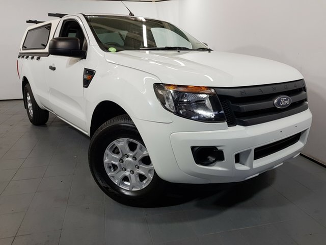 Used Ford Ranger PX XL 4x2, 2013 Ford Ranger PX XL 4x2 White 6 Speed Manual Utility