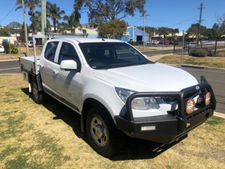2015 Holden Colorado RG MY15 LS (4x4) White 6 Speed Manual Crew Cab Chassis