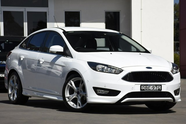 Used Ford Focus LZ Titanium, 2015 Ford Focus LZ Titanium White 6 Speed Automatic Sedan