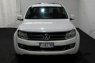 2013 Volkswagen Amarok 2H MY13 TDI420 4Motion Perm Highline White 8 Speed Automatic Utility.