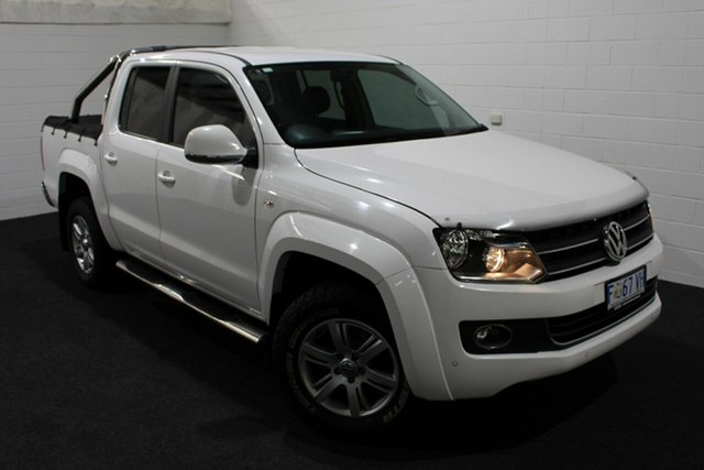 Used Volkswagen Amarok 2H MY13 TDI420 4Motion Perm Highline, 2013 Volkswagen Amarok 2H MY13 TDI420 4Motion Perm Highline White 8 Speed Automatic Utility
