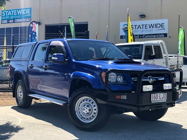 Used Holden Colorado RC LX Crew Cab, 2008 Holden Colorado RC LX Crew Cab Blue 5 Speed Manual Cab Chassis