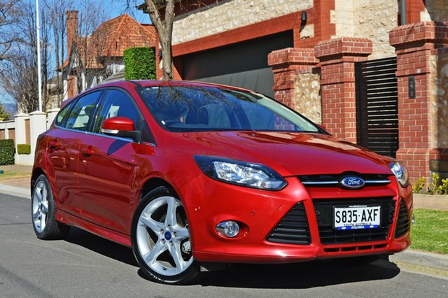 Used Ford Focus LW Titanium PwrShift, 2012 Ford Focus LW Titanium PwrShift Red 6 Speed Sports Automatic Dual Clutch Hatchback