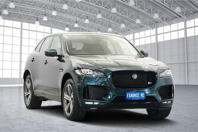 Used Jaguar F-PACE X761 MY17 35t AWD S, 2016 Jaguar F-PACE X761 MY17 35t AWD S Green 8 Speed Sports Automatic Wagon