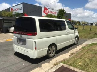 2004 Nissan Elgrand Highwaystar White 5 Speed Automatic Van.