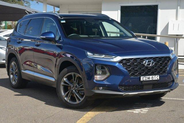 Used Hyundai Santa Fe TM MY19 Highlander, 2018 Hyundai Santa Fe TM MY19 Highlander Blue 8 Speed Sports Automatic Wagon