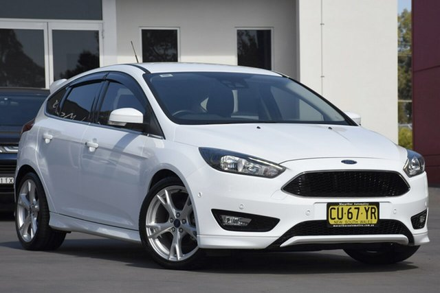 Used Ford Focus LZ Titanium, 2016 Ford Focus LZ Titanium White 6 Speed Automatic Hatchback