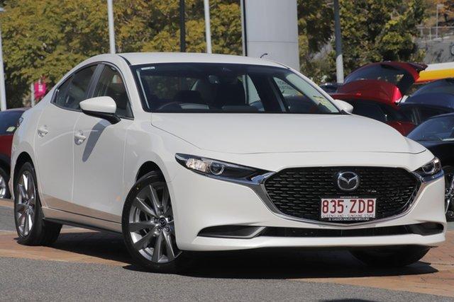 Demo Mazda 3 BP2S7A G20 SKYACTIV-Drive Evolve, 2019 Mazda 3 BP2S7A G20 SKYACTIV-Drive Evolve Snowflake White 6 Speed Sports Automatic Sedan
