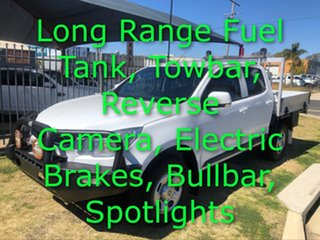 2015 Holden Colorado RG MY15 LS (4x4) White 6 Speed Manual Crew Cab Chassis.