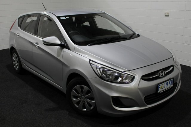 Used Hyundai Accent RB4 MY17 Active, 2016 Hyundai Accent RB4 MY17 Active Silver 6 Speed Constant Variable Hatchback