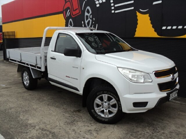 Used Holden Colorado RG MY13 DX, 2012 Holden Colorado RG MY13 DX Summit White 5 Speed Manual Cab Chassis