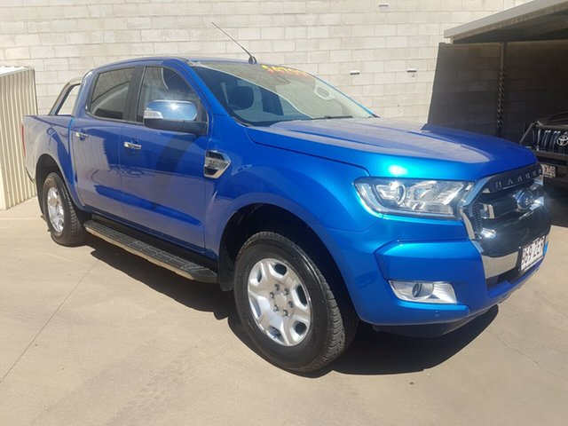 Used Ford Ranger PX MkII MY17 Update XLT 3.2 (4x4), 2017 Ford Ranger PX MkII MY17 Update XLT 3.2 (4x4) Blue 6 Speed Automatic Dual Cab Utility