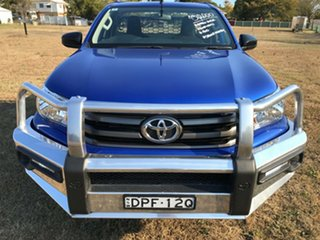 2017 Toyota Hilux GUN126R MY17 SR (4x4) Nebula Blue 6 Speed Automatic Cab Chassis