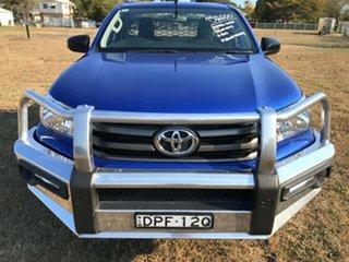 2017 Toyota Hilux GUN126R MY17 SR (4x4) Nebula Blue 6 Speed Automatic Cab Chassis