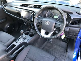 2017 Toyota Hilux GUN126R MY17 SR (4x4) Nebula Blue 6 Speed Automatic Cab Chassis.