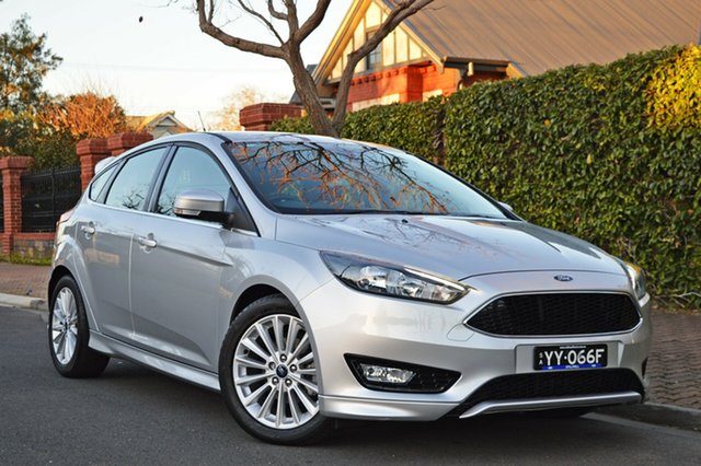Used Ford Focus LZ Sport, 2015 Ford Focus LZ Sport Silver 6 Speed Automatic Hatchback
