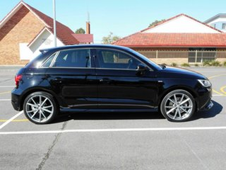 2015 Audi A1 8X MY16 S Line Sportback S Tronic Black 7 Speed Sports Automatic Dual Clutch Hatchback.