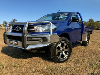 2017 Toyota Hilux GUN126R MY17 SR (4x4) Nebula Blue 6 Speed Automatic Cab Chassis.