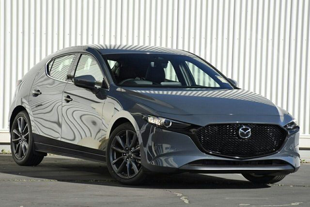 New Mazda 3 BP2HL6 G25 SKYACTIV-MT GT, 2019 Mazda 3 BP2HL6 G25 SKYACTIV-MT GT Polymetal Grey 6 Speed Manual Hatchback