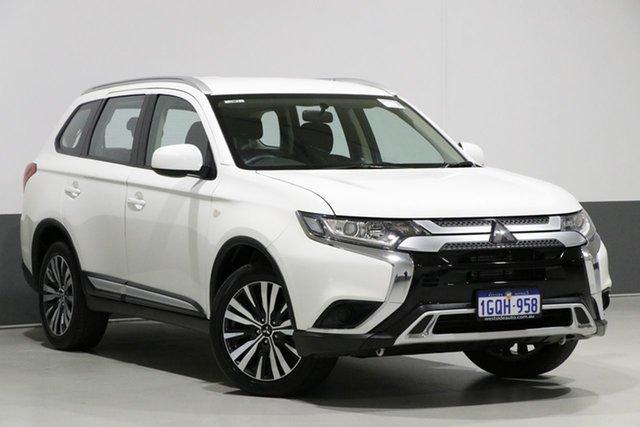 Used Mitsubishi Outlander ZL MY19 ES 7 Seat (AWD), 2018 Mitsubishi Outlander ZL MY19 ES 7 Seat (AWD) White Continuous Variable Wagon