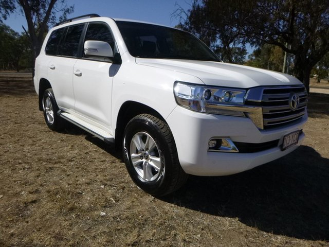 Used Toyota Landcruiser VDJ200R GXL, 2018 Toyota Landcruiser VDJ200R GXL Glacier White 6 Speed Sports Automatic Wagon