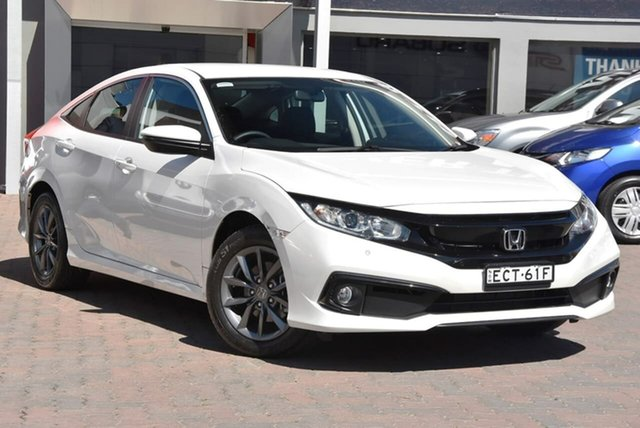 Demo Honda Civic 10th Gen MY19 VTi-S, 2019 Honda Civic 10th Gen MY19 VTi-S White 1 Speed Constant Variable Sedan