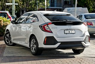 2019 Honda Civic 10th Gen MY19 VTi White Orchid 1 Speed Constant Variable Hatchback.