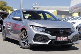 2019 Honda Civic 10th Gen MY19 VTi Lunar Silver 1 Speed Constant Variable Hatchback.