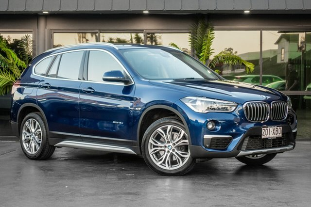 Used BMW X1 F48 sDrive18d Steptronic, 2017 BMW X1 F48 sDrive18d Steptronic Blue 8 Speed Sports Automatic Wagon