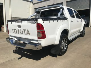 2013 Toyota Hilux KUN26R MY12 SR5 Double Cab White 4 Speed Automatic Utility