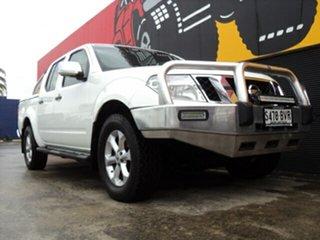 2011 Nissan Navara D40 MY11 ST-X Glacier White 6 Speed Manual Utility