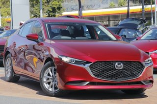 2020 Mazda 3 BP G20 Pure Soul Red Crystal 6 Speed Automatic Sedan.