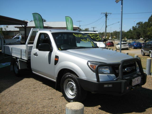 Used Ford Ranger PK XL 4x2, 2010 Ford Ranger PK XL 4x2 Silver 5 Speed Manual Cab Chassis