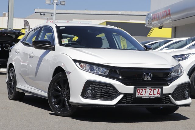Demo Honda Civic 10th Gen MY19 VTi-S, 2019 Honda Civic 10th Gen MY19 VTi-S Platinum White 1 Speed Constant Variable Hatchback