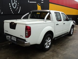 2011 Nissan Navara D40 MY11 ST-X Glacier White 6 Speed Manual Utility.