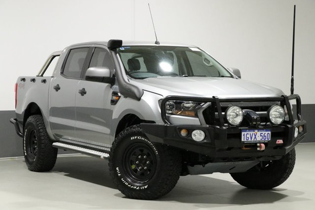 Used Ford Ranger PX MkII XLS 3.2 (4x4), 2016 Ford Ranger PX MkII XLS 3.2 (4x4) Silver 6 Speed Automatic Dual Cab Utility