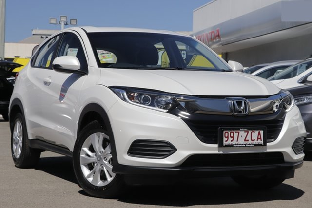 New Honda HR-V MY21 VTi Burnie, 2020 Honda HR-V MY21 VTi Platinum White 1 Speed Constant Variable Hatchback