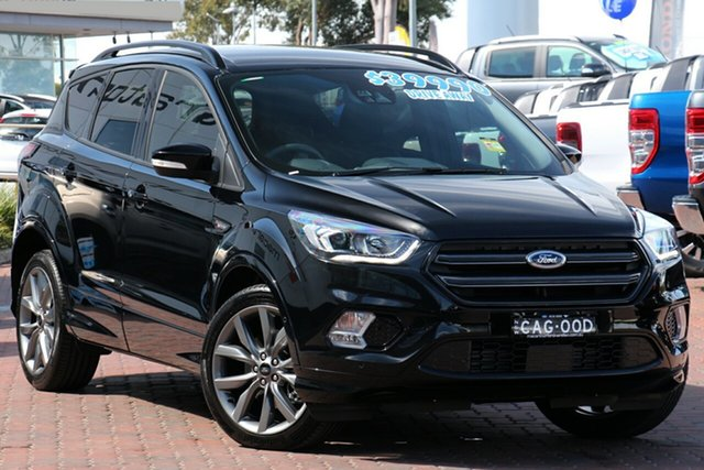 Demo Ford Escape ZG 2019.25MY ST-Line AWD, 2019 Ford Escape ZG 2019.25MY ST-Line AWD Shadow Black 6 Speed Sports Automatic Wagon