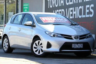 2014 Toyota Corolla ZRE182R Ascent S-CVT Silver Pearl 7 Speed Constant Variable Hatchback.