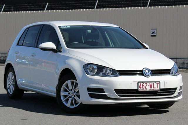 Used Volkswagen Golf VII MY17 92TSI DSG Trendline, 2016 Volkswagen Golf VII MY17 92TSI DSG Trendline Pure White 7 Speed Sports Automatic Dual Clutch