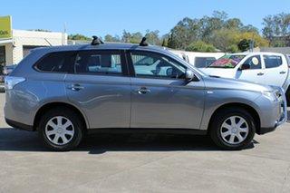 2013 Mitsubishi Outlander ZJ MY13 ES 4WD Silver 6 Speed Constant Variable Wagon.