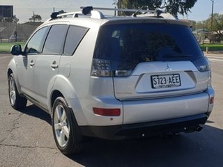 2007 Mitsubishi Outlander ZG MY07 XLS Silver 6 Speed Constant Variable Wagon.