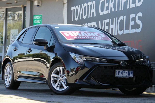 Used Toyota Corolla Mzea12R Ascent Sport, 2018 Toyota Corolla Mzea12R Ascent Sport Eclipse Black 10 Speed Constant Variable Hatchback