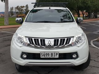 2015 Mitsubishi Triton MQ MY16 Exceed Double Cab White 5 Speed Sports Automatic Utility.